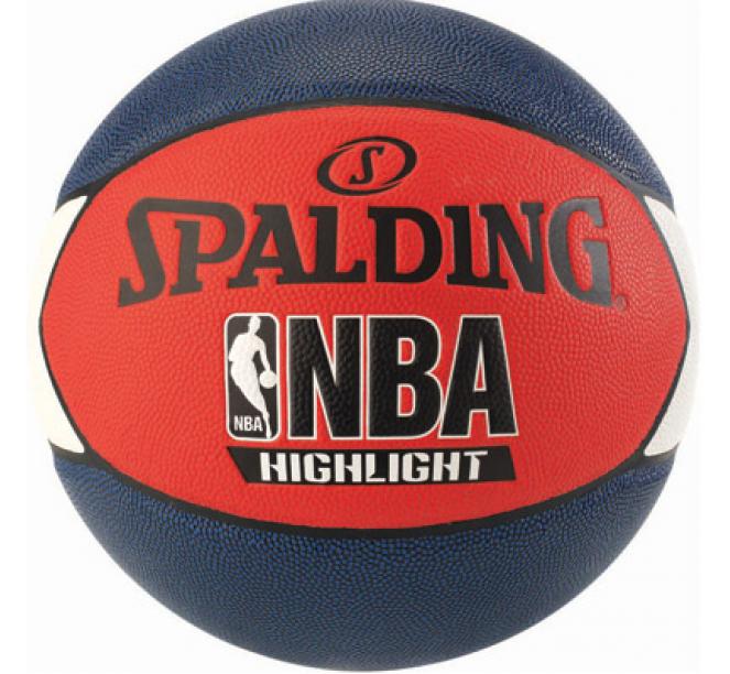 Minge de baschet Spalding NBA Highlight Negru/Rosu