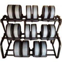 Set gantere cu suport Wowei 290 Kg