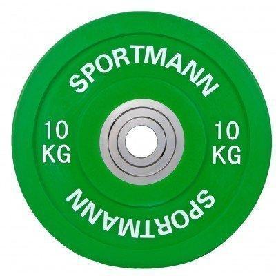 Greutate olimpica Sportmann Bumper Plate 10 Kg