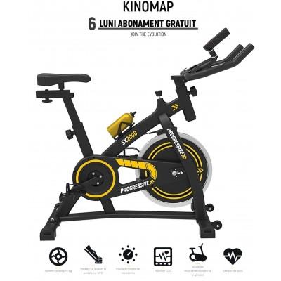 Bicicleta Indoor Cycling PROGRESSIVE SX2000 + Kinomap gratuit