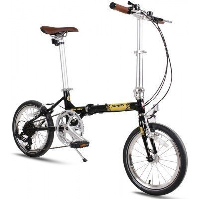 Bicicleta pliabila Pegas Teoretic 7s Black